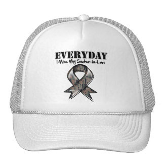 Sister-in-Law - Everyday I Miss My Hero Military Mesh Hat
