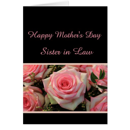 Sister in Law Happy Mother's Day rose card | Zazzle