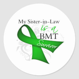 Sister-in-Law is a Bone Marrow Transplant Survivor Classic Round Sticker