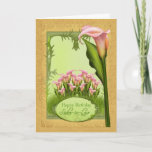 "Sister-in-Law Lily Birthday Greeting Card<br><div class=""desc"">A very pretty card with delicate lilies and all blended to make a card for that special person in your life. Lily via Jaugarwoman</div>"