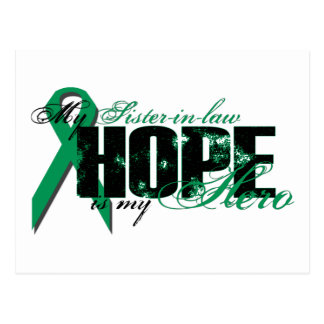 Sister-in-law My Hero - Kidney Cancer Hope Postcard