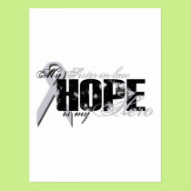 Sister-in-law My Hero - Lung Hope Postcard