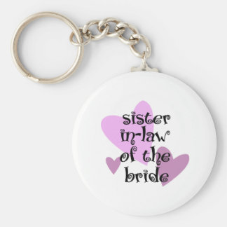 Sister In-Law of the Bride Key Chains