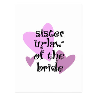 Sister In-Law of the Bride Postcard