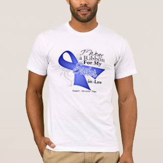 Sister-in-Law Periwinkle Ribbon - Stomach Cancer T-Shirt