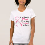 Sister-in-Law Pink Ribbon Breast Cancer T Shirt