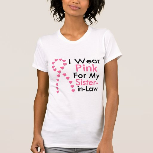 Sister-in-Law Pink Ribbon Breast Cancer Tee Shirt