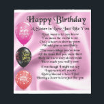 "Sister in Law Poem -  Happy Birthday Design Notepad<br><div class=""desc"">A great gift for a sister in law on her birthday</div>"