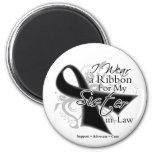 Sister-in-Law Ribbon - Melanoma Skin Cancer Fridge Magnet