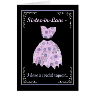 Sister-in-Law - Special Request Card