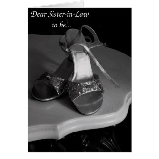 Sister-in-Law Will you be my Matron of Honor? Card