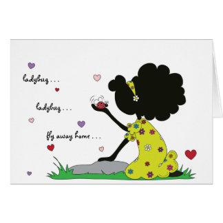 Sister Ladybug Fly Away Card