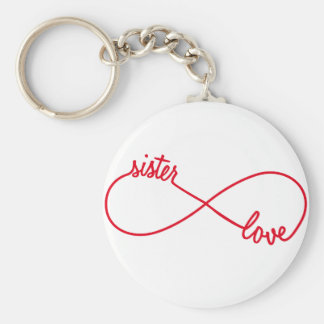Sister love, infinity sign keychain
