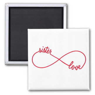Sister love, infinity sign magnet