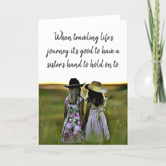 Sister love support and encouragement card zazzle sister love support and encouragement card m4hsunfo