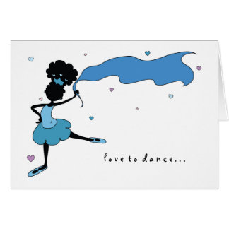 Sister Love to Dance (Blue) Card