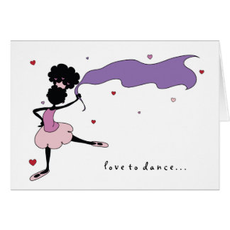 Sister Love to Dance (Pink) Card