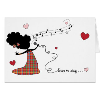 Sister Loves to Sing... Card