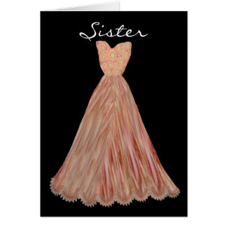 SISTER - Maid of Honor AUTUMN ORANGE Dress Cards