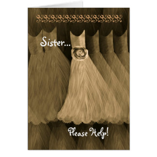 SISTER Maid of Honor Invitation GOLD Gown