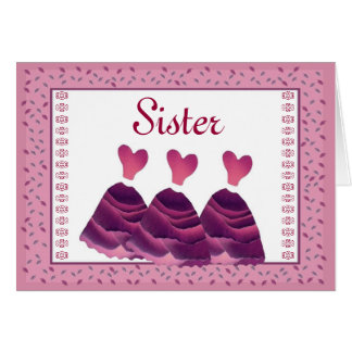 SISTER Maid of Honor Invitation - MAGENTA Gowns Greeting Card
