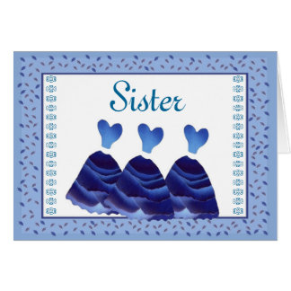 SISTER Maid of Honor Invitation - PERIWINKLE Gowns Greeting Card