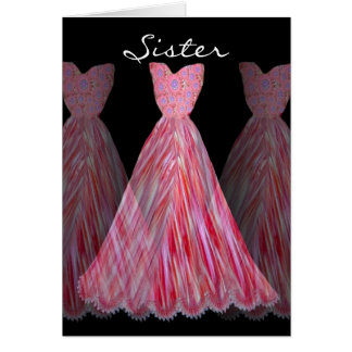 SISTER - Maid of Honor RED FLAME Dresses Card