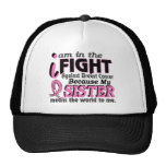 Sister Means The World To Me Breast Cancer Trucker Hats