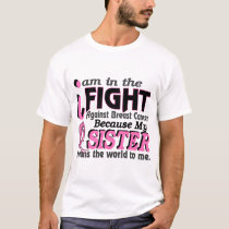 Sister Means The World To Me Breast Cancer T-Shirt