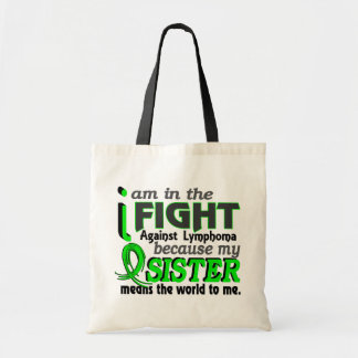 Sister Means The World To Me Lymphoma Tote Bag