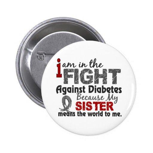 Sister Means World To Me Diabetes Pinback Button