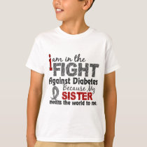 Sister Means World To Me Diabetes T-Shirt
