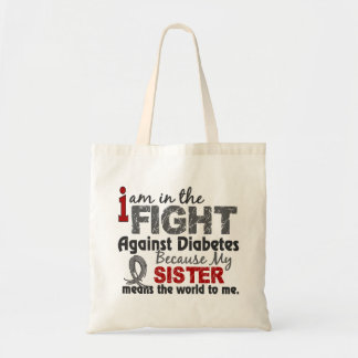 Sister Means World To Me Diabetes Tote Bag