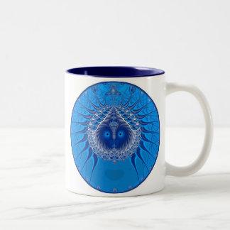 Sister Moon - Blue Two-Tone Coffee Mug
