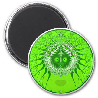 Sister Moon - Green 2 Inch Round Magnet