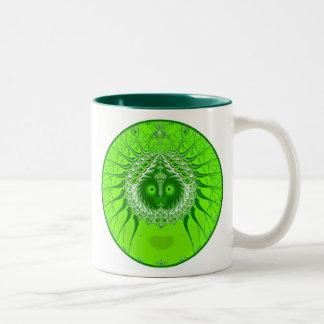Sister Moon - Green Coffee Mugs