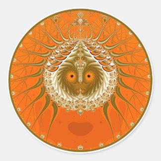 Sister Moon - Orange Classic Round Sticker