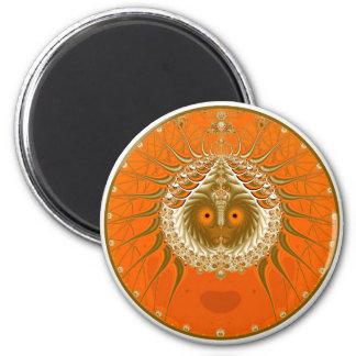 Sister Moon - Orange Fridge Magnet