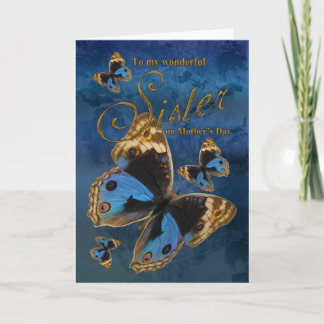 Sister, Mother's Day Card With Butterflies