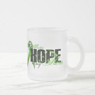 Sister My Hero - Lymphoma Hope 10 Oz Frosted Glass Coffee Mug