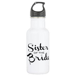 Sister of Bride Black Stainless Steel Water Bottle