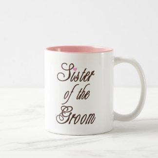 Sister of Groom Classy Browns Two-Tone Coffee Mug