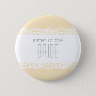 Sister of the Bride Button-Choose your own color! Pinback Button