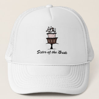 Sister of the Bride Cake Trucker Hat