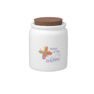 SISTER OF THE BRIDE CANDY JARS