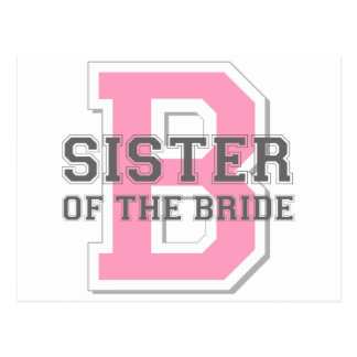 Sister of the Bride Cheer Postcard