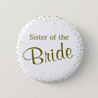 Sister of the Bride Confetti Button
