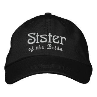 SISTER of the BRIDE Custom Name BLACK B3 Embroidered Baseball Hat