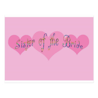 Sister of the Bride Post Cards