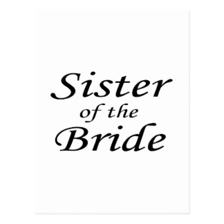 sister Of The Bride Postcard